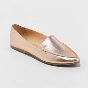 Women's Micah Pointy Toe Loafers - Rose Gold